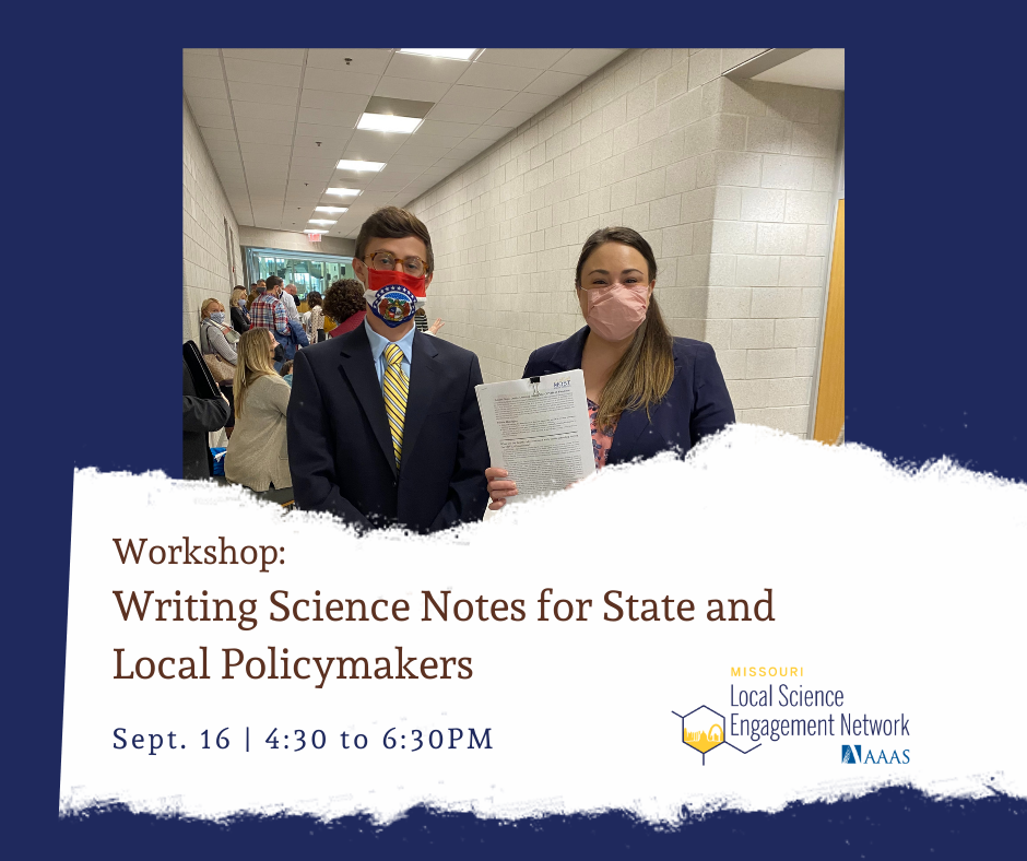 Writing Science Notes for Local and State Policymakers – a Hybrid Workshop
