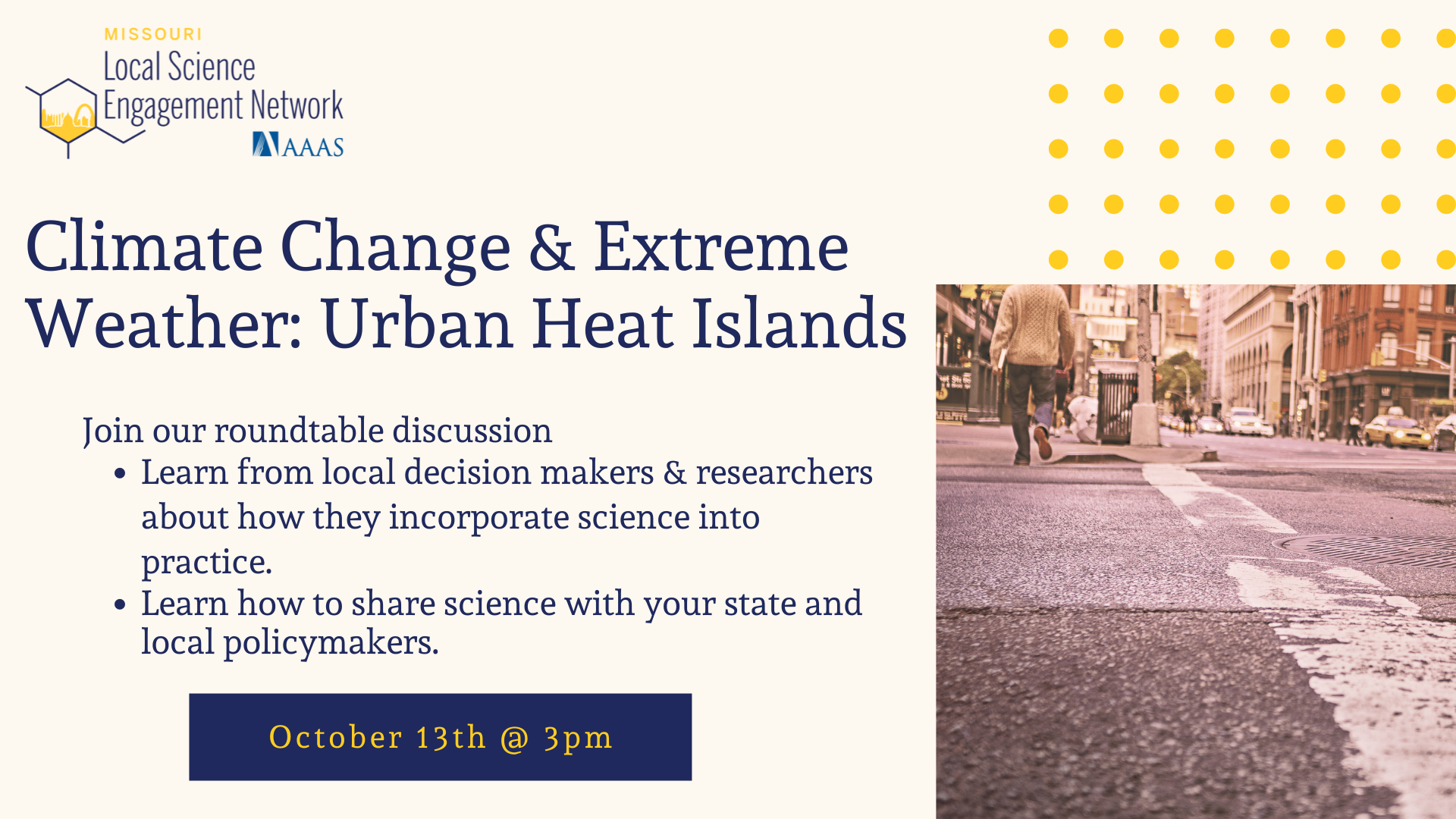 Climate Change & Extreme Weather: Urban Heat Islands